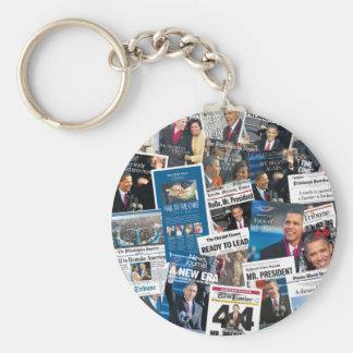 Llavero del periódico de la inauguración de Obama