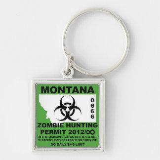 Llavero del permiso del zombi de Montana