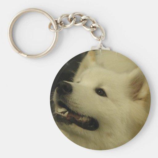 Llavero del perrito del samoyedo