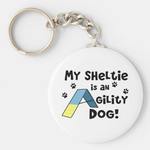 Llavero del perro de la agilidad de Sheltie