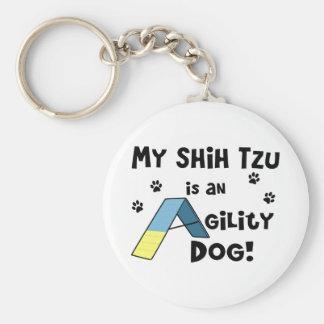 Llavero del perro de la agilidad de Shih Tzu