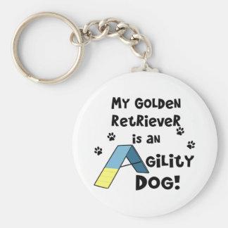 Llavero del perro de la agilidad del golden retrie