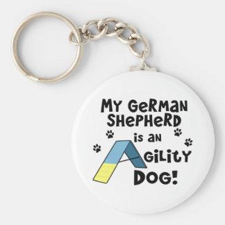 Llavero del perro de la agilidad del pastor alemán