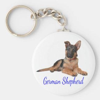 Llavero del perro de perrito del pastor alemán del