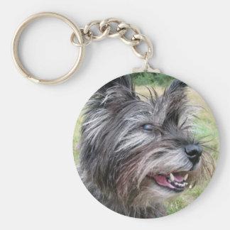 Llavero del perro de Terrier de mojón, idea del re