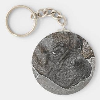 Llavero del perro del boxeador