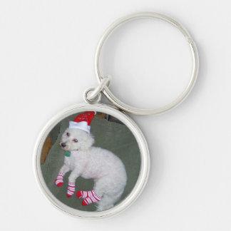 Llavero del perro del navidad