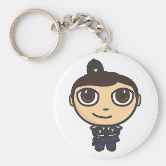 Llavero del personaje de dibujos animados del poli