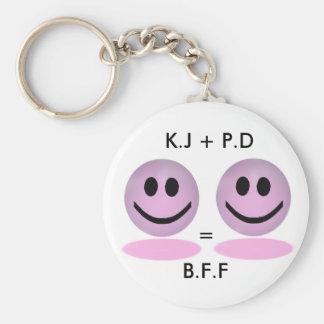 Llavero del personalizado de B.F.F