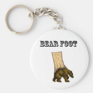 Llavero del pie del oso