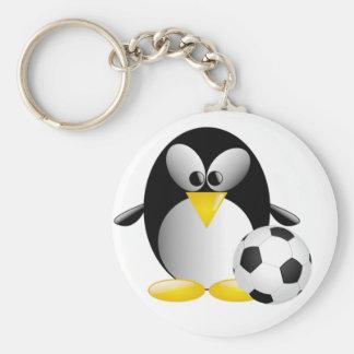 Llavero del pingüino del fútbol