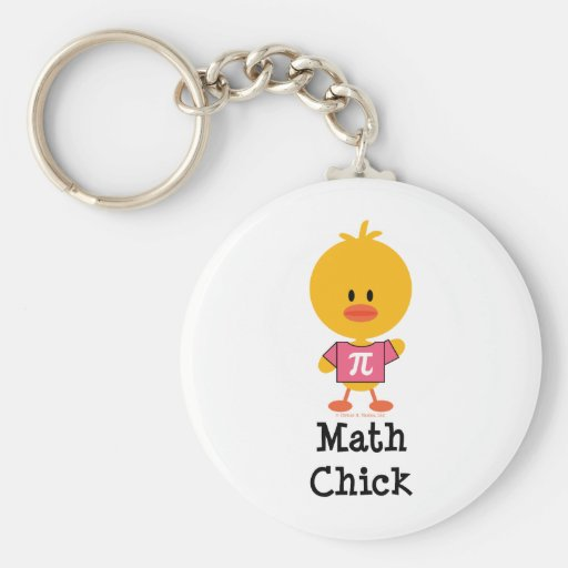 Llavero del polluelo de la matemáticas