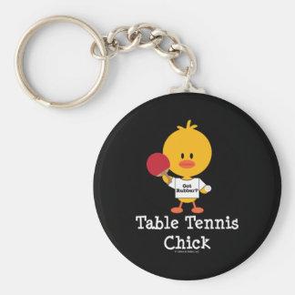 Llavero del polluelo de los tenis de mesa