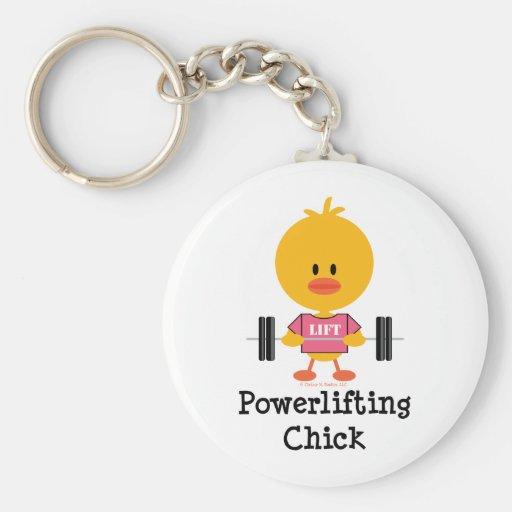 Llavero del polluelo de Powerlifting