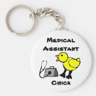 Llavero del polluelo del auxiliar médico