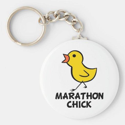 Llavero del polluelo del maratón