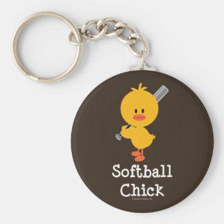 Llavero del polluelo del softball