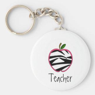 Llavero del profesor - esquema rosado de Apple w d