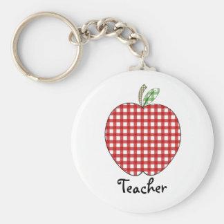 Llavero del profesor - guinga roja Apple