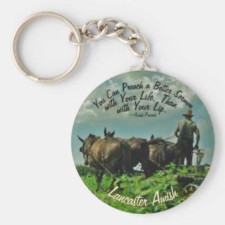 ¡Llavero del proverbio de Amish! ¡Lancaster Amish! Llavero Redondo Tipo Pin