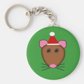 Llavero del ratón de las Felices Navidad