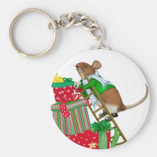 Llavero del ratón del navidad