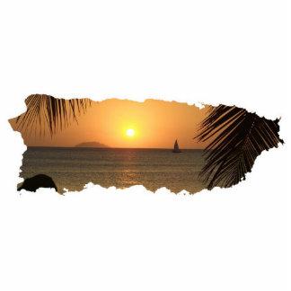 Llavero del recorte de la puesta del sol de Puerto Esculturas Fotograficas