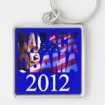 Llavero del recorte del perfil de Barack Obama 201