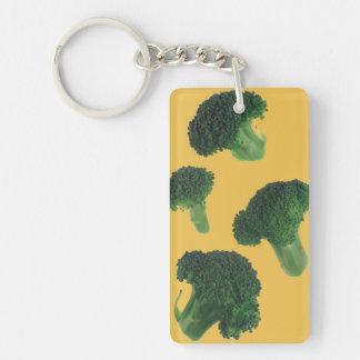Llavero del rectángulo del bróculi (solo-echado a