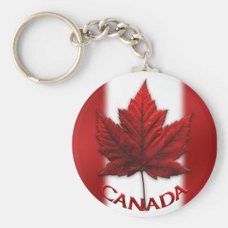 Llavero del recuerdo de la bandera de Canadá y hoj