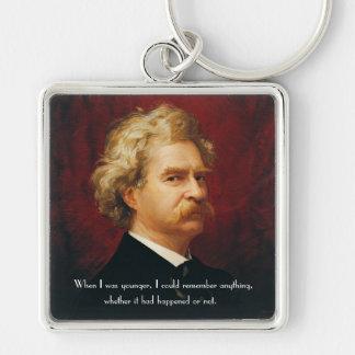 Llavero del retrato de Mark Twain