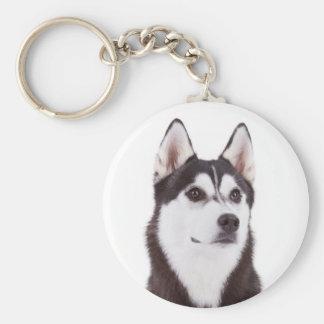 Llavero del retrato del perro de perrito del husky