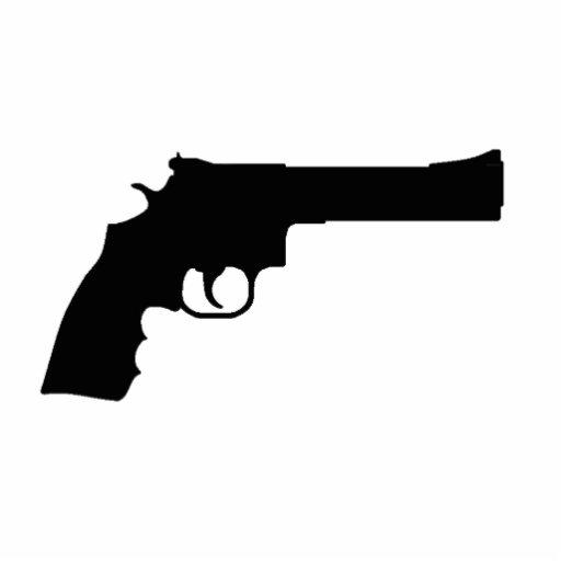 Llavero del revólver escultura fotografica