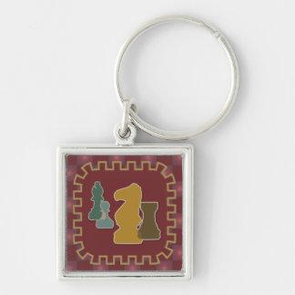 Llavero del rojo de los pedazos de ajedrez