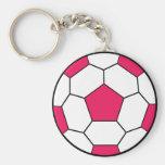 Llavero del rosa del balón de fútbol