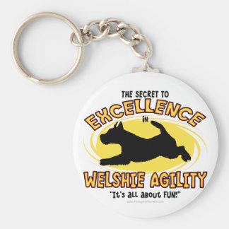 Llavero del secreto de Terrier galés de la agilida