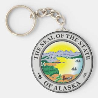 Llavero del sello del estado de Alaska