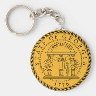 Llavero del sello del estado de Georgia