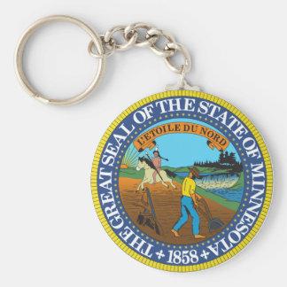 Llavero del sello del estado de Minnesota
