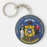 Llavero del sello del estado de Wisconsin