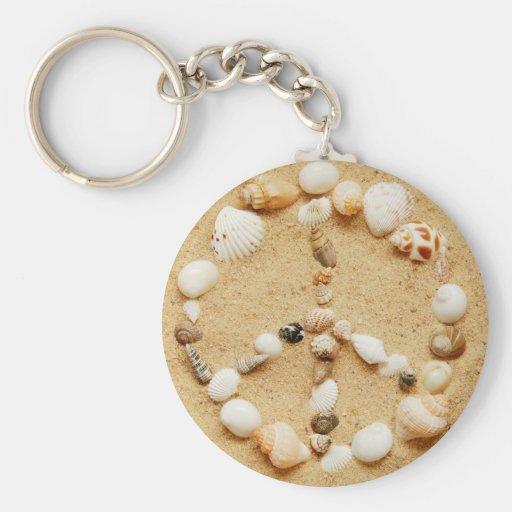 Llavero del signo de la paz del Seashell