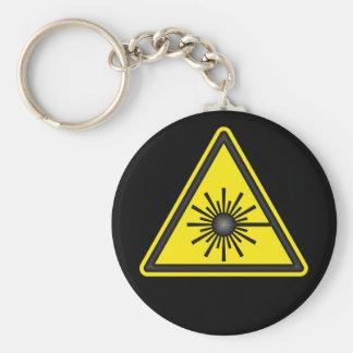 Llavero del símbolo amonestador de laser