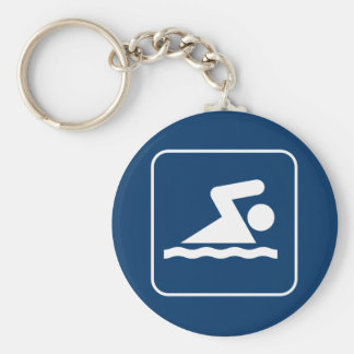 Llavero del símbolo de la nadada