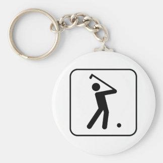 Llavero del símbolo de la pelota de golf