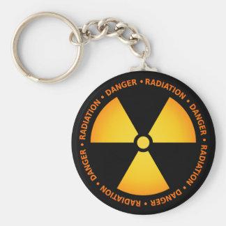 Llavero del símbolo de la radiación
