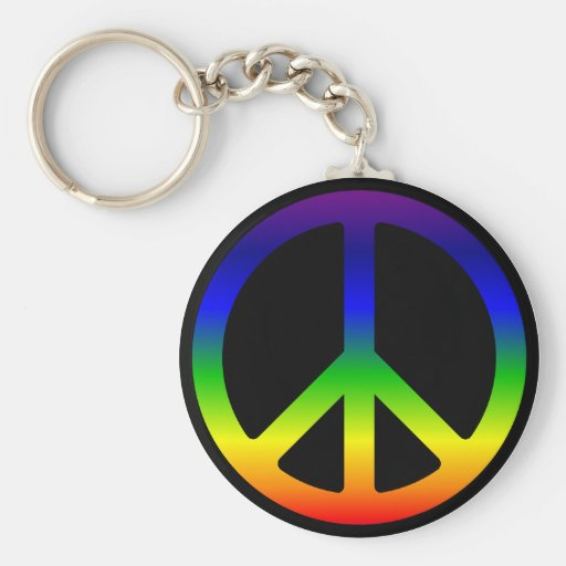 Llavero del símbolo de paz del arco iris