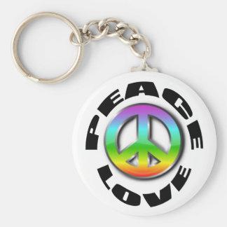 llavero del símbolo del amor de la paz