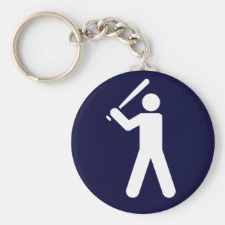 Llavero del símbolo del béisbol