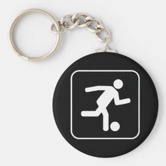 Llavero del símbolo del fútbol del fútbol