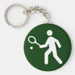 Llavero del símbolo del tenis